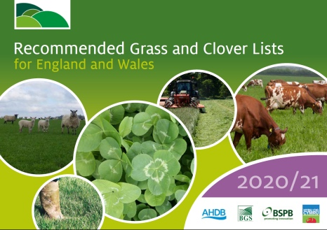 New Recommended Grass and Clover Lists