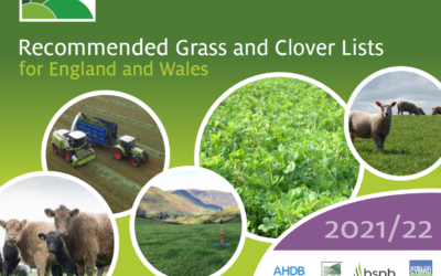 New 2021 Recommended Grass and Clover Lists available